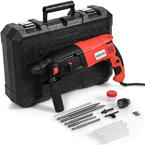"1/2"" Electric Rotary Hammer Drill with Bits & Case"
