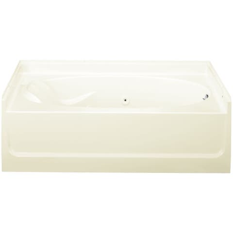 """Sterling 76101120 Ensemble 60"""" x 37-1/4"""" Vikrell Whirlpool Bathtub for Alcove Installations with Right Drain -"""