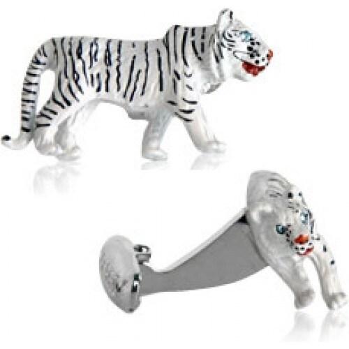 White Tiger Cufflinks Animal