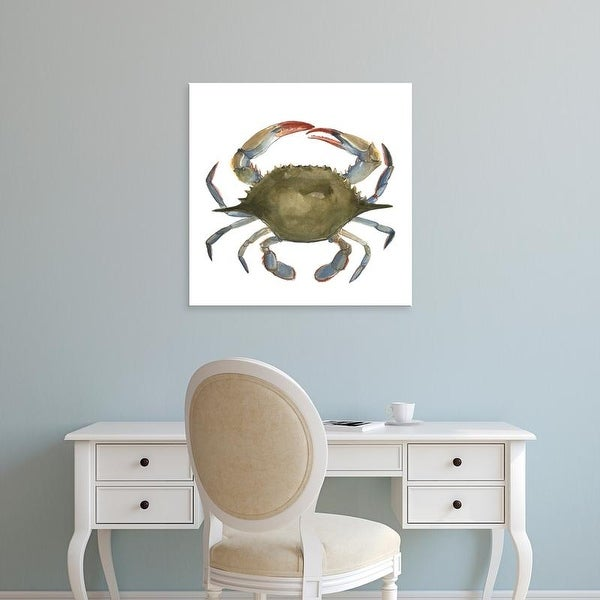 Easy Art Prints Emma Scarvey's 'Watercolor Crab II' Premium Canvas Art