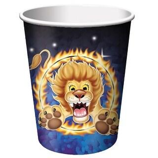 8 Pack 9Oz Cups Big Top Birthday - Multi