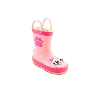 Western Chief Pink Kitty Youth Round Toe Synthetic Rain Boot