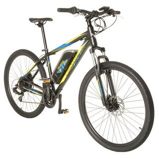 Vilano Electric MTB Commuter Bike, 21 Speeds, Disc Brakes, 27.5 650b Wheels