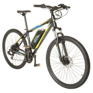 Vilano Electric MTB Commuter Bike, 21 Speeds, Disc Brakes, 27.5 650b Wheels|https://ak1.ostkcdn.com/images/products/is/images/direct/70a96935e6657eff747649a6912b9c38465cf432/Vilano-Electric-MTB-Commuter-Bike%2C-21-Speeds%2C-Disc-Brakes%2C-27.5-650b-Wheels.jpg?impolicy=medium
