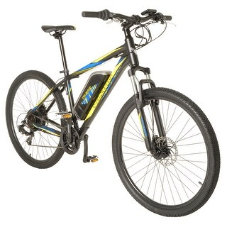 Vilano Electric MTB Commuter Bike, 21 Speeds, Disc Brakes, 27.5 650b Wheels