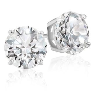 Link to Lusoro 925 Sterling Silver Round Cut AAA Cubic Zirconia Stud Earrings Similar Items in Earrings