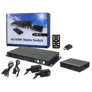 (Open Box) Monoprice HDBaseT 4x2 HDMI Matrix Switch and Receiver