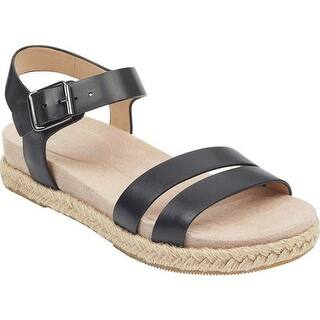 5fc1b242daf Quick View.  34.95. Easy Spirit Women s Ixia Ankle Strap Espadrille Black  Leather. New Arrival. Quick View