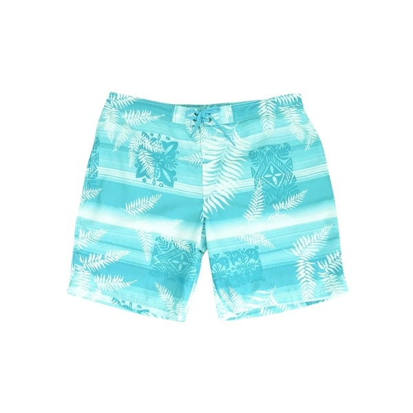 7e7877bc14 Shop Caribbean Men's Tonal Floral Swim Trunks (XL, Aqua Multi) - Aqua Multi  - XL - On Sale - Free Shipping On Orders Over $45 - Overstock - 27991335