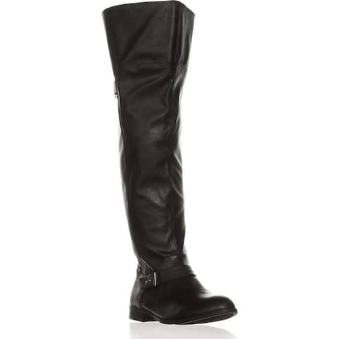 Bar III Womens Daphne Round Toe Over Knee Fashion Boots