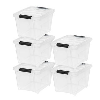Link to 19 Qt. Stack & Pull Box in Clear  (5-Pack) Similar Items in Storage & Organization