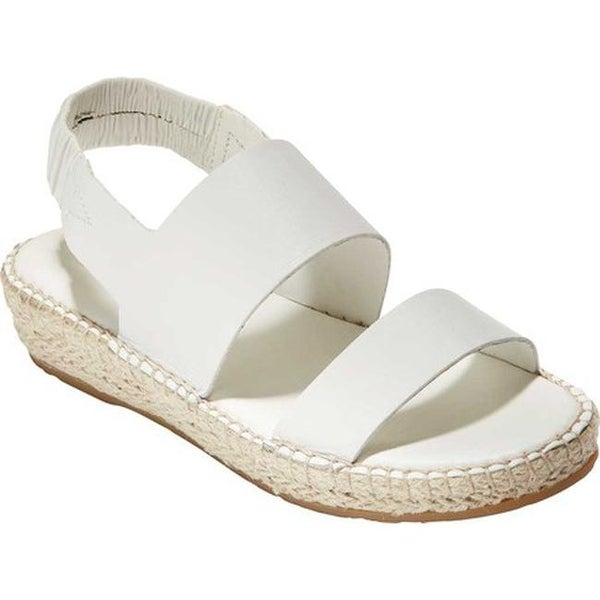 6d8d2de4e57 Shop Cole Haan Women's Cloudfeel Espadrille Sandal Optic White ...
