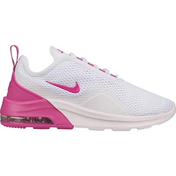Nike Women's Air Max Motion 2 Running Shoe White/Laser Fuchsia/Pale Pink  Size 8 M US