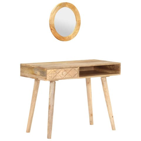 "vidaXL Dressing Table 39.4""x19.7""x29.9"" Solid Mango Wood"