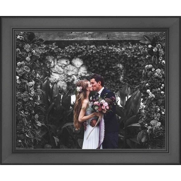 23x30 Modern Black Wood Picture Frame With Acrylic Front and Foam Board Backin