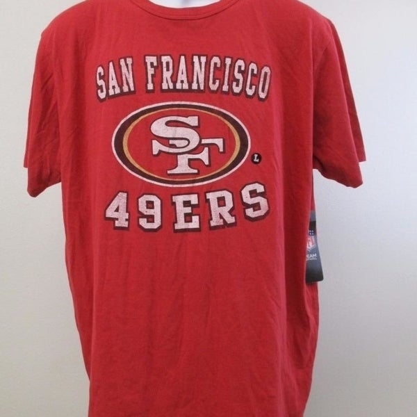 abbac009a86 Shop San Francisco 49ers Mens Sizes L-XL 47' Brand Vintage Look Shirt $30 -  On Sale - Free Shipping On Orders Over $45 - Overstock - 23510326