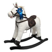 Joon Rocking Horse Corduroy Jones Pony, Beige - Ivory