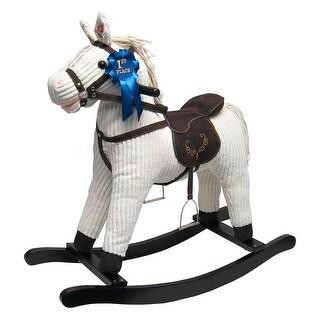 Joon Rocking Horse Corduroy Jones Pony, Beige - Ivory