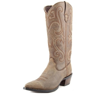 Durango RD3593 Women  Pointed Toe Leather Brown Western Boot