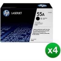 HP 55A Black Original LaserJet Toner Cartridge f/ US Government (CE255AG)(4-Pack)