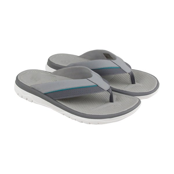 Clarks Balta Sun Mens Gray Synthetic Flip Flops Slip On Sandals Shoes