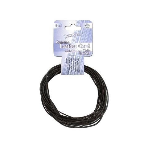 Dazzle It Leather Cord 1mm Rnd 5yd Brown