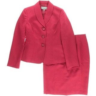 Le Suit Womens Cannes 2PC Jacquard Skirt Suit