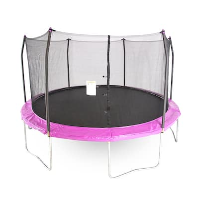 Skywalker Trampolines Purple 15' Round Trampoline with Enclosure