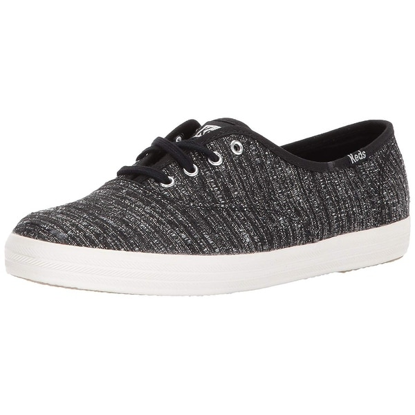 484ba91ee54b4 ... Women s Athletic Shoes. Keds Women  x27 s Champion Lurex Stripe Fashion  Sneaker - Black - 5.5
