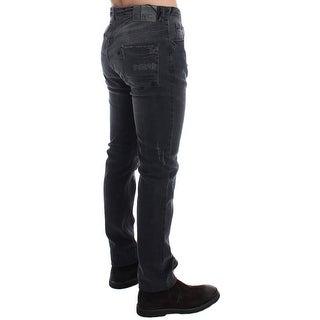 Costume National Gray Slim Fit Cotton Stretch Denim Jeans - w34