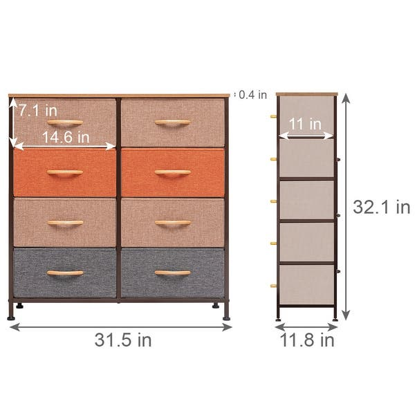 8 Drawers Vertical Dresser Storage Tower Organizer Unit For Bedroom - On Sale - Overstock - 31796229