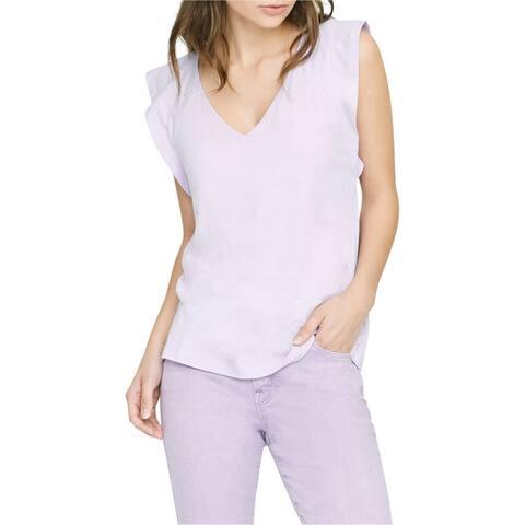 Sanctuary Clothing Womens Flutter Sleeve Basic T-Shirt