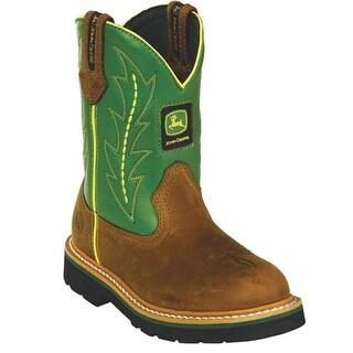 John Deere Toddler Kids Cute Green Cowboy Waterproof Boots 8.5-3