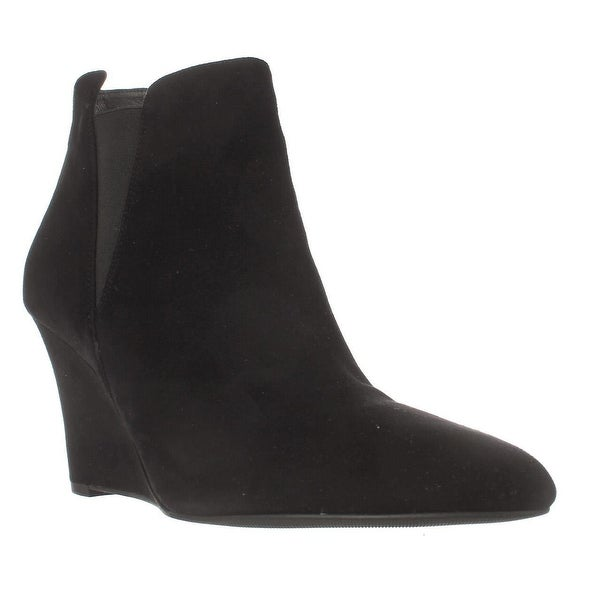 Via Spiga Kenzie Wedge Ankle Booties, Black