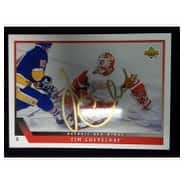 Signed Cheveldae Tim Detroit Red Wings 1994 Upper Deck Hockey Card autographed