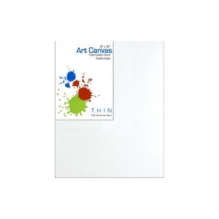 """SPC Canvas Thin 8x10x5/8"""" Primed 13oz Twin Pack"""