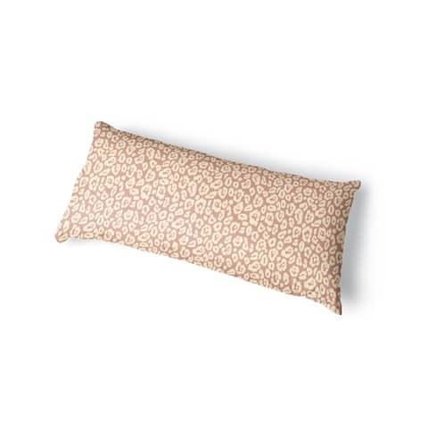 LEOPARD PRINT BLUSH Body Pillow By Kavka Designs - Blush, Pink