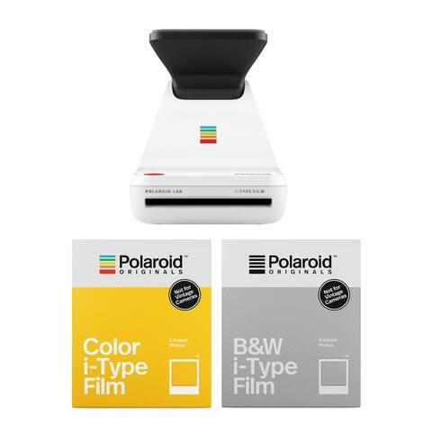 "Polaroid Lab Everything Box Starter Kit - Digital to Analog - White - 5.9"" x 4.6"" x 5.9"""