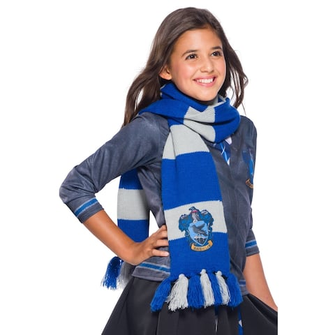 Rubies Ravenclaw Deluxe Scarf - Blue/Grey