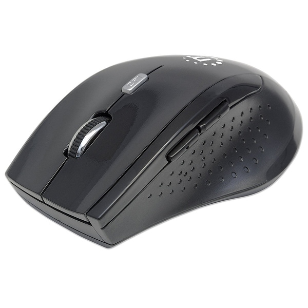Manhattan - Strategic - Manhattan Curve Wireless Optical Usb Mouse, Features 5 Buttons With Scroll Wheel