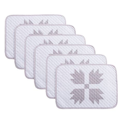 Country Living Bear Claw 6-Piece Placemat Set - 13x19