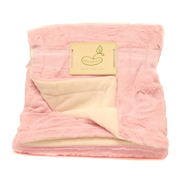 Beansprout Pink Lux Micro Mink Crib Throw Blanket