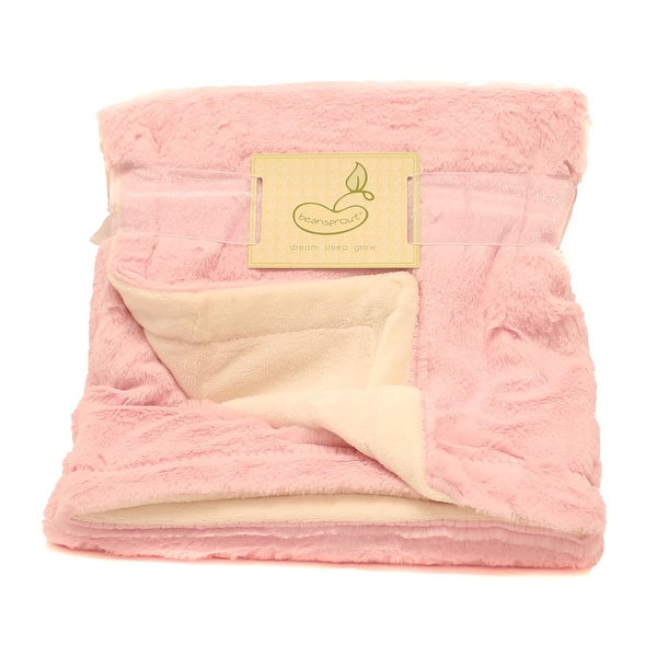 Shop Beansprout Pink Lux Micro Mink Crib Throw Blanket