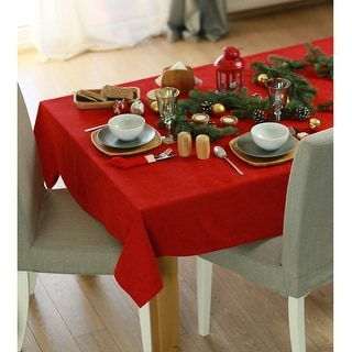 Link to Merry Christmas Solid Decorative Tablecloth Similar Items in Table Linens & Decor
