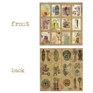 Canvas 12 x 12 in. Open New Doors Wanderlust 2 Sided Cardstock Paper