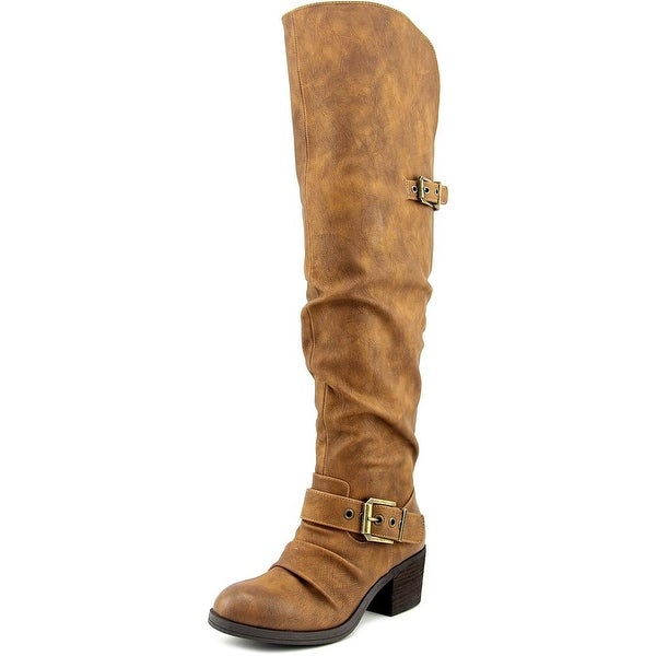 Carlos by Carlos Santana Emily Hawa Women Synthetic Brown Knee High Boot