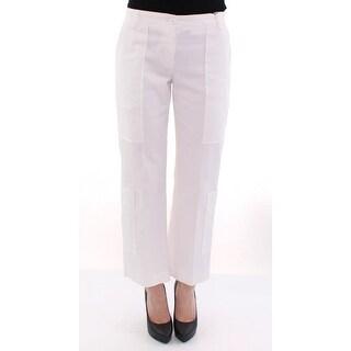 Dolce & Gabbana Dolce & Gabbana White Cotton Cropped Cargo Pants