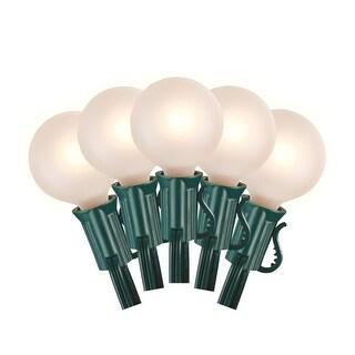 Celebrations 20235-71 G40 Globe Light Set, White Frosted, 24'