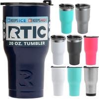 9ec540e98cf RTIC 20 oz. Vacuum Insulated Stainless Steel Tumbler with Splash Proof Lid  - 20 oz