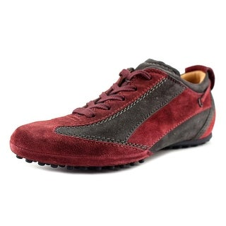Tod's Allacciato Fondo Owens Gommino D. Youth Round Toe Suede Burgundy Sneakers